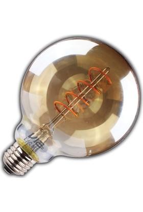Vialicht 3W(20W) Led Deco Spiral Glob SCOG95/E27Ampul 170lümen 2000K GOLD