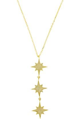 Tuğrul Kuyumculuk Altın Yıldız Taşsız Kolye T031129
