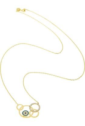 Tuğrul Kuyumculuk Altın Taşlı Kolye T031155