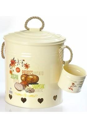 Yargıcı Porselen Jumbo Bölmeli Patates-Soğan Set-Krem