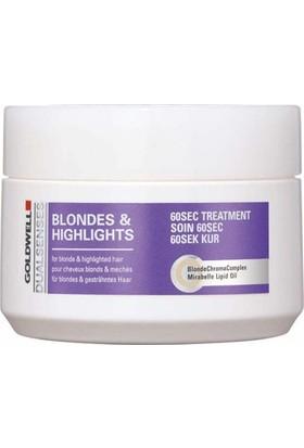Goldwell Dualsenses Blondes & Highlights - Sarı & Röfleli Saçlar İçin 60 Saniyede Yenileyici Bakım 200 Ml