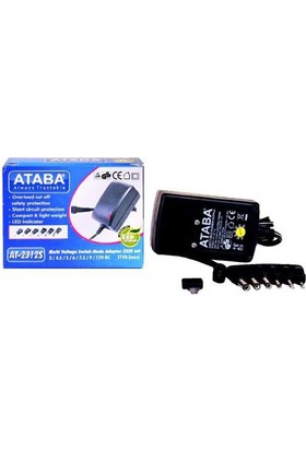 Ataba At-2312S 3V-12V 2000Mah Switch Mode Adaptör 6 Jacklı