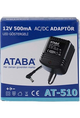 Ataba At-510 12V 500 Mah 12W Telefon Adaptörü