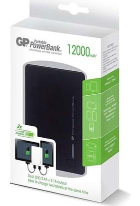 Gp Gp302Be-2B1 Portable Powerbank Li-İon 12000 mAh - Siyah