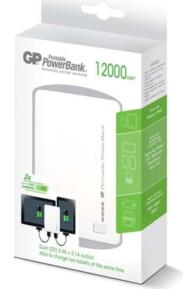Gp Gp302We-2B1 Portable Powerbank Li-İon 12000Mah - Beyaz