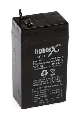Lightex Lt-41 4V 1Ah Bakımsız Işıldak Aküsü