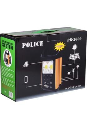 Police Pk-2000 Işıldak Solar Panelli Güç Kaynağı