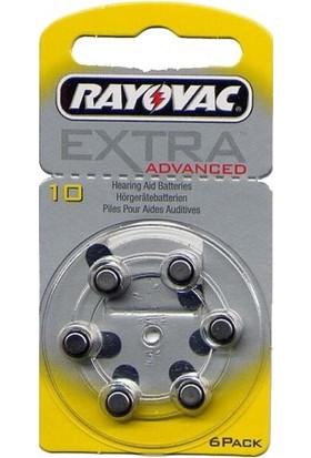 Rayovac Extra 10 Pr70 Numara Kulaklık Pili 6Lı