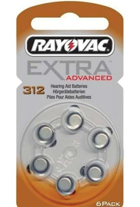 Rayovac Extra 312 Numara Kulaklık Pili 6Lı