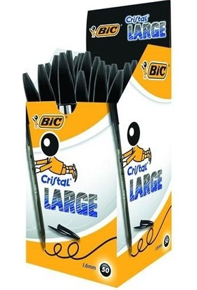 Bic Cristal Medıum Tükenmez Kalem 50'Li Kutu Siyah