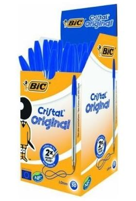 Bic Cristal Medıum Tükenmez Kalem 50'Li Kutu Mavi
