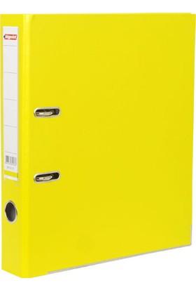 Bigpoint Plastik Klasör Dar Sarı A4