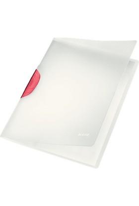 Leitz 4174 Color Clip Magic Sıkıştırmalı Dosya Kırmızı