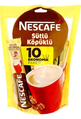 Nescafe 3 Ü 1 Arada Sütlü Köpüklü 10'Lu Ekonomik Paket