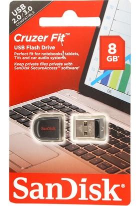 Sandisk Cruzer Fit 8Gb 2.0 3.0 Usb Bellek (Sdcz33-008G-B35)