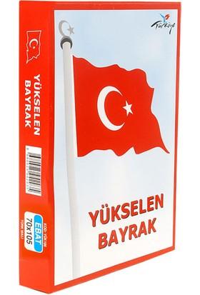 Türkiye Yükselen Bayrak 70X105
