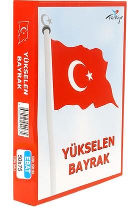 Türkiye Yükselen Bayrak 50X75