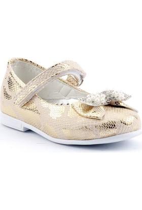 Sema 11 Günlük Abiye Cırtlı Kemerli Tokalı Kız Çocuk Babet Ayakkabı