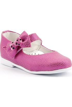 Sema 01 Günlük Abiye Cırtlı Kemerli Tokalı Kız Çocuk Babet Ayakkabı