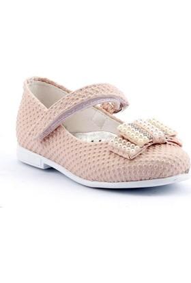 Sema 16 Günlük Abiye Cırtlı Kemerli Tokalı Kız Çocuk Babet Ayakkabı