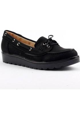 Armoni 45 Bağcıklı Yumuşak Taban Günlük Bayan Oxfort Babet Ayakkabı