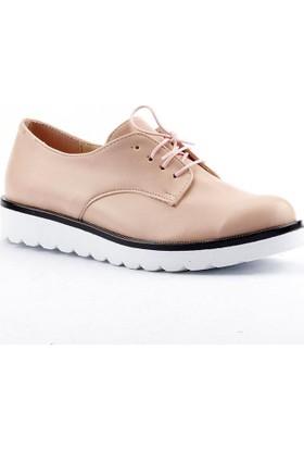 Armoni 40 Cilt Bağcıklı Günlük Bayan Oxfort Babet Ayakkabı