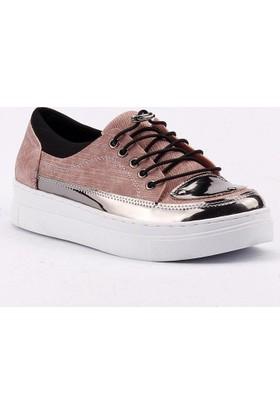 Armoni Vans Günlük Bağcıklı Aynalı Bayan Spor Ayakkabı