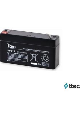 T.Tec Plus 6V 1,3Ah Bakımsız Kuru Akü