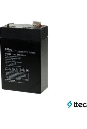 T.Tec Plus 6V 2,8Ah Bakımsız Kuru Akü