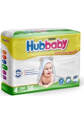 Hiper Hubbaby Bebek Bezi 4 Beden Maxi 36 Adet