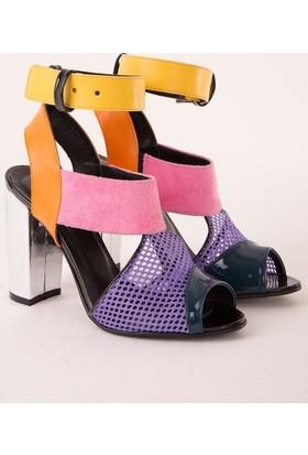 Mecrea La Vita Est Bella Topuklu Sandalet