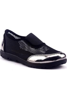 Caprito Y-101 Günlük File Ayna Platin Yürüyüş Bayan Ayakkabı