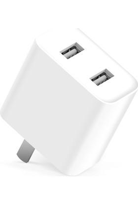 Xiaomi Şarj Cihazı USB Adaptör (2 USB Çıkışlı)