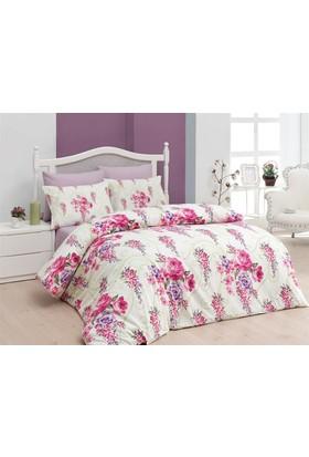 Belenay Çift Kişilik Uyku Seti - Floral Fuşya