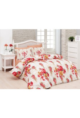 Belenay Çift Kişilik Uyku Seti - Floral Kırmızı