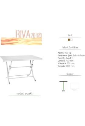 Gardelia 70*120 Metal Ayaklı Plastik Katlanır Masa (Beyaz)
