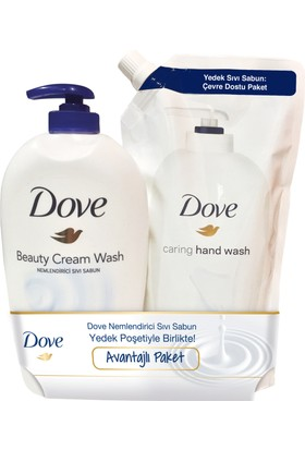 Dove Sıvı Sabun Beauty Cream 500 ml + 500 ml Yedekli