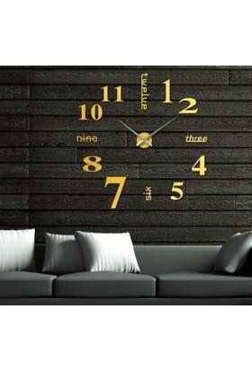 Dıy Clock Yeni Nesil 3D Duvar Saati Model 17