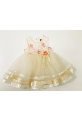 Serkon Karegül İşlemeli Kız Bebek Elbise