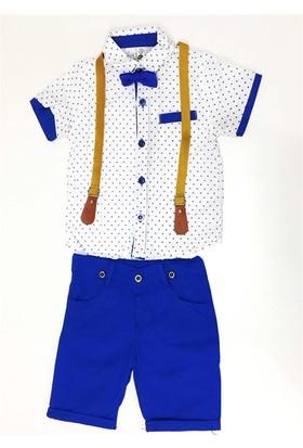 Çıtır Yıldız Papyonlu Erkek Çocuk Takımı Mavi