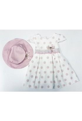 Misse Puantiyeli Şapkalı Kız Çocuk Elbise
