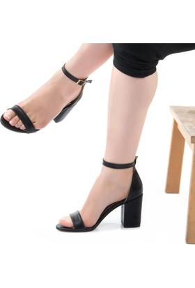ModaBuymuş Tek Bantlı Topuklu Bayan Ayakkabı