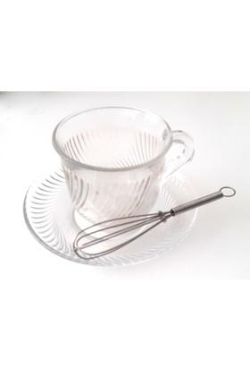 Cutechef Kitchen 4'Lü Metal Çırpıcı Şeklinde Çay Kaşığı