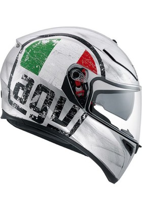 AGV K-3 Scudetto Mat Silver Kask