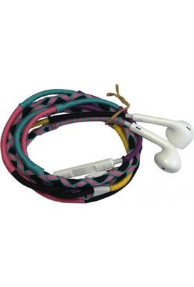 L-Tech . İp Örgü Desenli Kulaklık İos - Yu74Rw