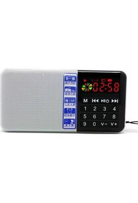 Hobimtek Antensiz Portatif Metal Kasa Mp3 Çalar Şarjlı Radyo Player Usb