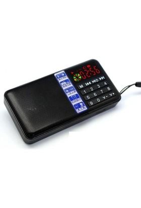 Hobimtek Antensiz Portatif Metal Kasa Mp3 Çalar Şarjlı Radyo Player Usb - Siyah