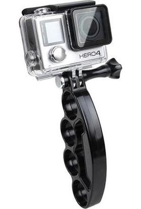 Markacase Gopro Hero 5-4-3-3+ İçin Parmaklıklı Monopod El Tutucağı Hand Grip