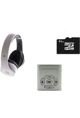 Diaron Drn 116 Mp3 Player + 8 Gb Hafıza Kartı + Subzero Beyaz Kulaklık