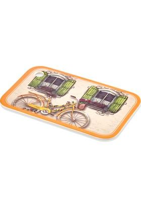 The Mia Kesme Tahtası Küçük Boy Bisiklet 25*16 Cm